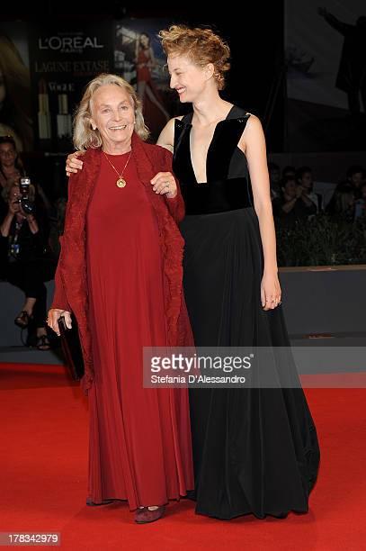 Actress Elena Cotta and actress Alba Rohrwacher attend 'Via Castellana Bandiera' Premiere during the 70th Venice International Film Festival at Sala...