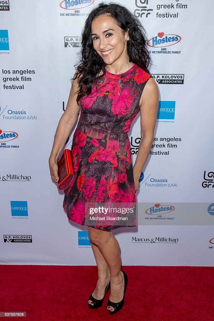 Actress Elena Evangelo attends the 10th Annual Los Angeles Greek Film Festival opening night gala at the Egyptian Theatre on June 01, 2016 in Hollywood, California.