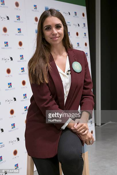 Actress Elena Furiase attends a conference on energy poverty in Madrid Spain on November 10 2016