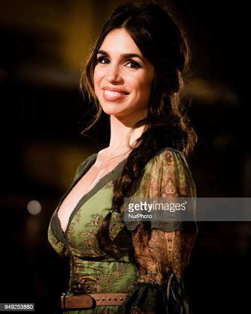 Actress Elena Furiase attends 'Casi 40' premiere during the 21th Malaga Film Festival at the Cervantes Theater on April 20 2018 in Malaga Spain