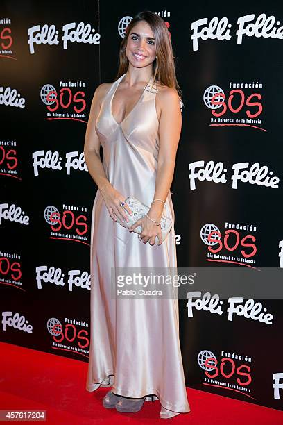 Actress Elena Furiase attends 'Folli Follie' new charity collection presentation on October 21, 2014 in Madrid, Spain.