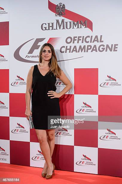 Actress Elena Furiase attends G H Mumm Champagne Party at the Fortuny Palace on March 26 2015 in Madrid Spain