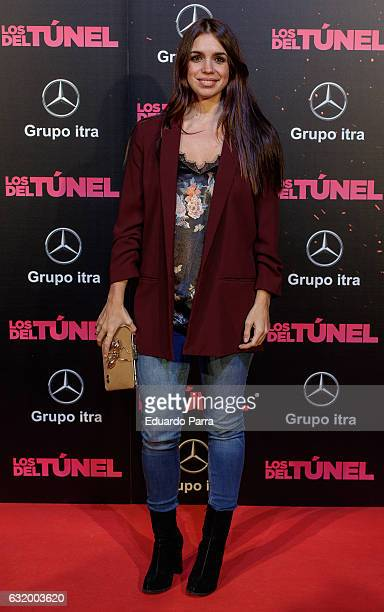 Actress Elena Furiase attends 'Los del Tunel' premiere at Capitol cinema on January 18 2017 in Madrid Spain