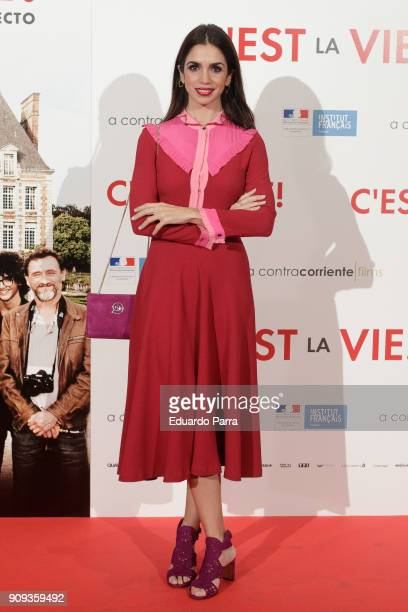 Actress Elena Furiase attends the 'C'Est La Vie' premiere at the Francoise Institut on January 23 2018 in Madrid Spain