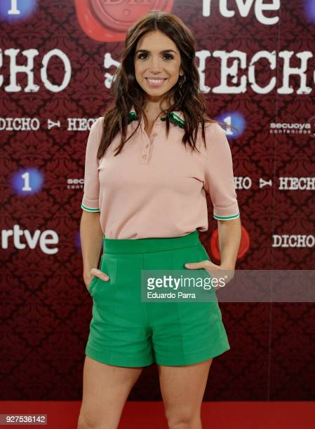 Actress Elena Furiase attends the 'Dicho y hecho' program presentation at Colliseum theatre on March 5 2018 in Madrid Spain