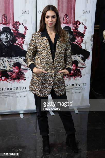Actress Elena Furiase attends 'Vampus Horror Tales' photocall at the Wax Museum on November 19, 2020 in Madrid, Spain.