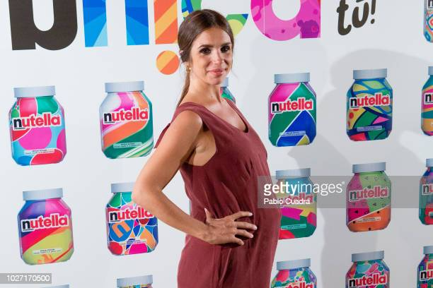 Actress Elena Furiase presents Nutella at Luchana Theater in Madrid on September 5, 2018 in Madrid, Spain.