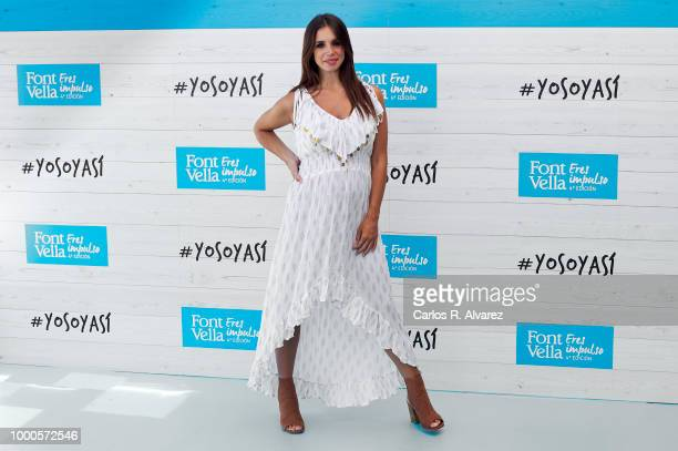 Singer Rozalen and actress Elena Furiase attend the 'Yo soy asi by Fontvella' photocall at Oscar hotel on July 17 2018 in Madrid Spain