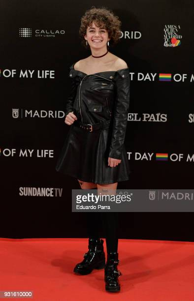 Actress Elena Gallardo attends the 'The Best Day of My Life' premiere at Callao cinema on March 13 2018 in Madrid Spain