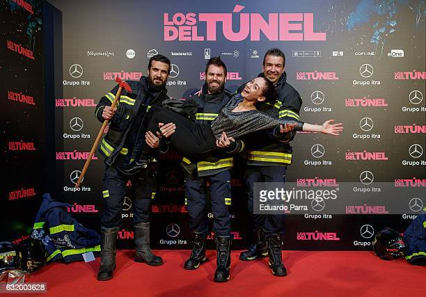 Actress Elena Rivera attends 'Los del Tunel' premiere at Capitol cinema on January 18 2017 in Madrid Spain