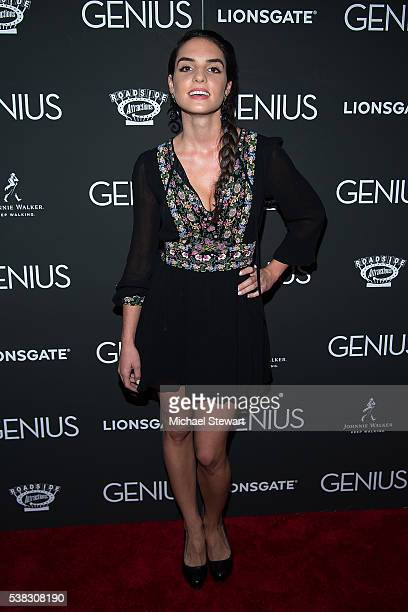 Actress Elena Rusconi attend the 'Genius' New York premiere at Museum of Modern Art on June 5 2016 in New York City