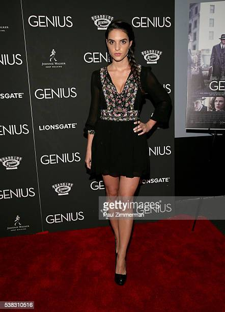 Actress Elena Rusconi attends Genius New York Premiere at Museum of Modern Art on June 5 2016 in New York City