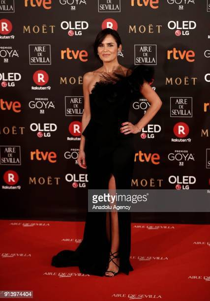 Actress Elena Sanchez attends the 32th edition of the Goya Awards ceremony in Madrid Spain on February 04 2018
