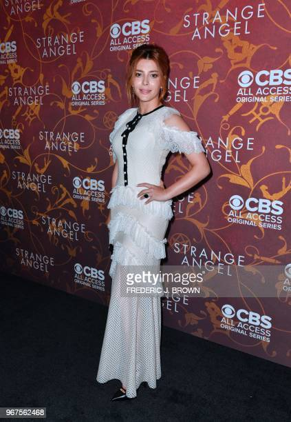 Actress Elena Satine arrives at the premiere of 'Strange Angel' in Hollywood California on June 4 2018 The 10episode firstseason original drama...