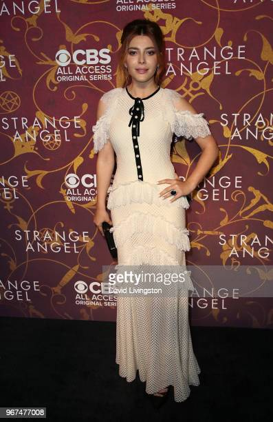 Actress Elena Satine attends the premiere of CBS All Access' 'Strange Angel' at Avalon on June 4 2018 in Hollywood California
