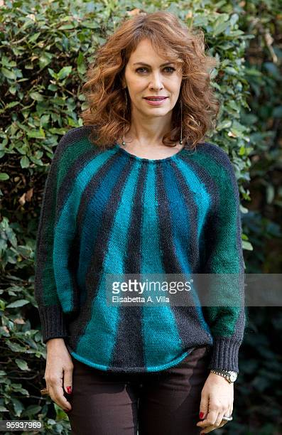 Actress Elena Sofia Ricci attends a photocall for the Italian TV fiction 'Gli Ultimi Del Paradiso' at RAI Viale Mazzini on January 22 2010 in Rome...