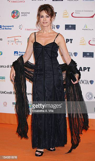 Actress Elena Sofia Ricci attends the Roma Fiction Fest 2008 Closing Ceremony and Diamond Awards on July 12 2008 in Rome Italy
