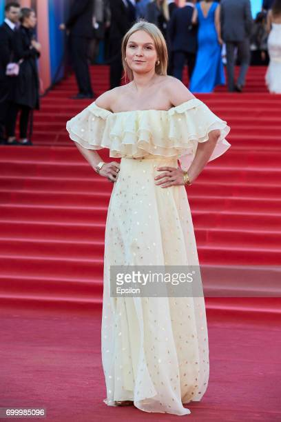 Actress Elena Velikanova attends opening of the 39th Moscow International Film Festival outside the Karo 11 Oktyabr Cinema on June 22 2017 in Moscow...