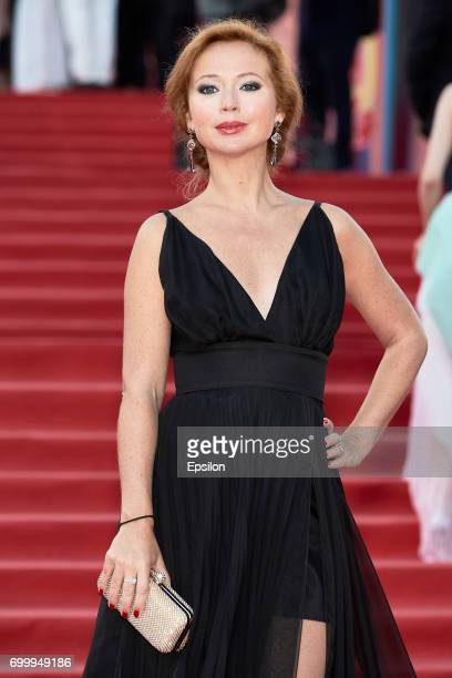 Actress Elena Zaharova attends opening of the 39th Moscow International Film Festival outside the Karo 11 Oktyabr Cinema on June 22 2017 in Moscow...