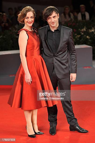 "Actress Eleni Roussinou and director Alexandros Avranas attend ""Miss Violence"" Premiere during the 70th Venice International Film Festival at Sala..."