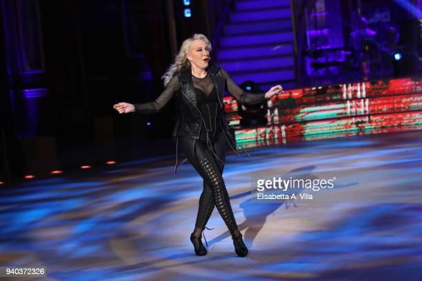 Actress Eleonora Giorgi performs on the Italian TV show 'Ballando Con Le Stelle' at RAI Auditorium on March 31 2018 in Rome Italy