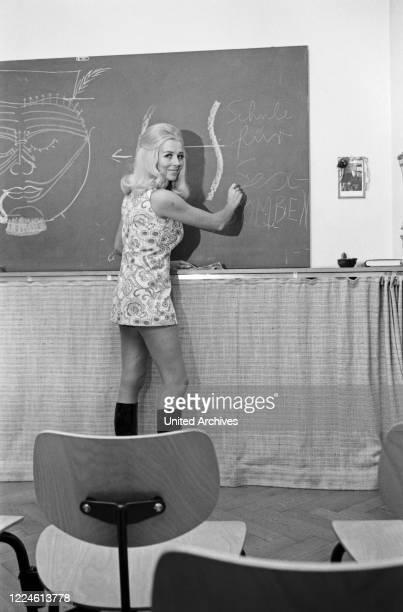 Actress Elga Machaty as a teacher, Germany, 1960s.