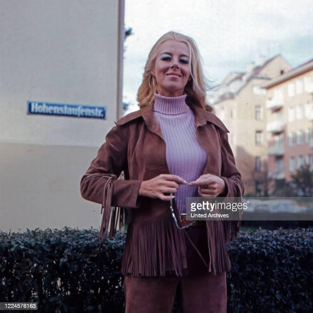Actress Elga Machaty, Germany, 1960s.