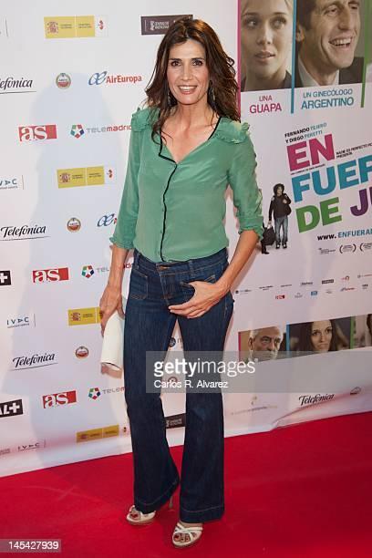 Actress Elia Galera attends En Fuera De Juego premiere at Callao cinema on May 29 2012 in Madrid Spain