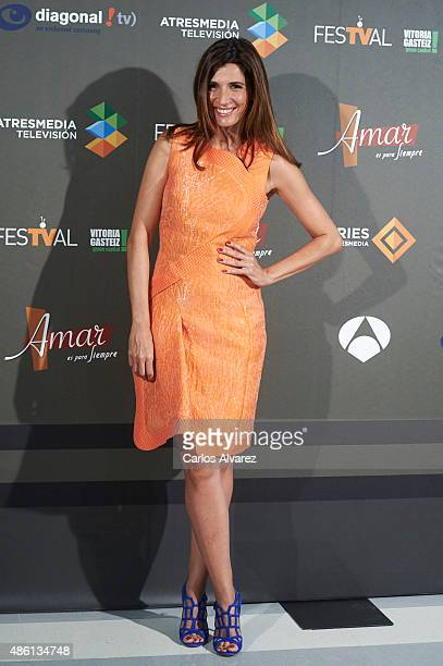 Actress Elia Galera attends the Amar Es Para Siempre new season presentation during the 7th FesTVal Television Festival 2015 at the Europa Auditorium...