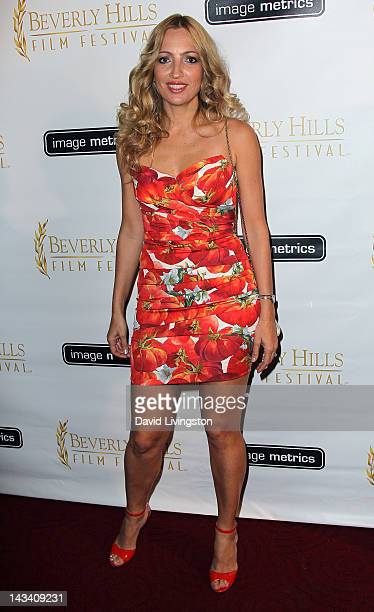 Actress Elika Portnoy attends the 12th Annual International Beverly Hills Film Festival opening night gala at the AMPAS Samuel Goldwyn Theater on...