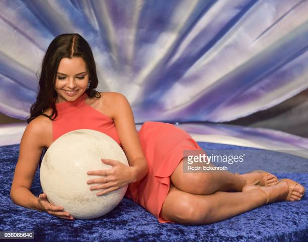 """Actress Eline Powell poses for portrait at Freeform's """"Siren"""" Red Carpet Event at Goya Studios on March 21, 2018 in Los Angeles, California."""