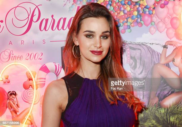 Actress Elisa Bachir Bey attends Pink Paradise Club 15th Anniversary on March 23 2017 in Paris France