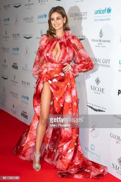 Actress Elisa Bachir Bey attends the Global Gift Gala at Four Seasons Hotel George V on April 25 2018 in Paris France