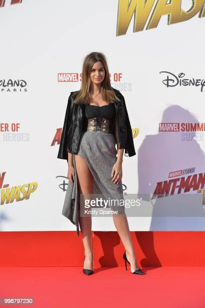 Actress Elisa BachirBey attends the European Premiere of Marvel Studios 'AntMan And The Wasp' at Disneyland Paris on July 14 2018 in Paris France