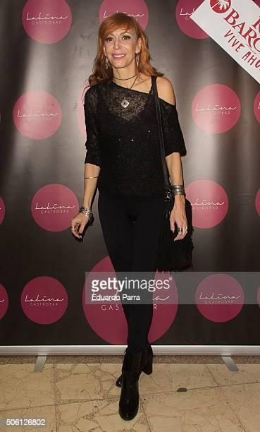 Actress Elisa Matilla attends Lalina gastrobar inaguration photocall at Lalina Gastrobar on January 21 2016 in Madrid Spain