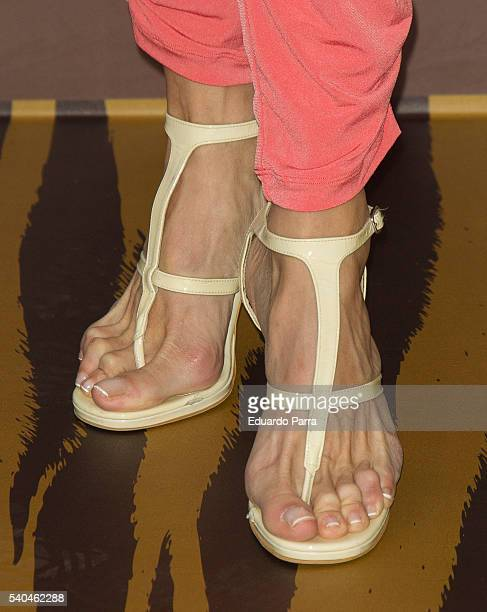 Actress Elisa Matilla shoes detail attends the 'Magnum summer' photocall at Me hotel on June 15 2016 in Madrid Spain