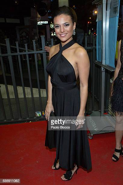 Actress Elisa Mouliaa is seen arriving to 'Nuestros Amantes' premiere at Palafox Cinema on May 30 2016 in Madrid Spain