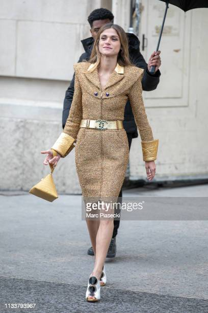 Actress Elisa Sednaoui attends the Chanel show as part of the Paris Fashion Week Womenswear Fall/Winter 2019/2020 on March 05, 2019 in Paris, France.