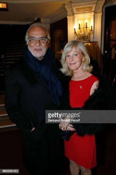 Actress Elisa Servier and guest attend the Ramses II Theater Play at Theatre des Bouffes Parisiens on October 23 2017 in Paris France