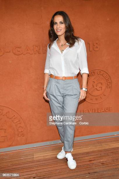 Actress Elisa Tovati attends the 2018 French Open Day three at Roland Garros on May 29 2018 in Paris France