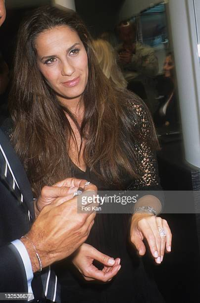 Actress Elisa Tovati attends the Forges Reopening Cocktail at Forges Wagram Jewell Shop on June 14 2011 in Paris France