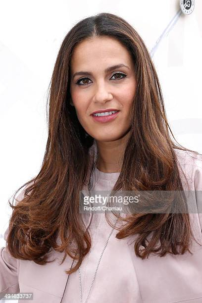 Actress Elisa Tovati attends the Roland Garros French Tennis Open 2014 Day 6 on May 30 2014 in Paris France