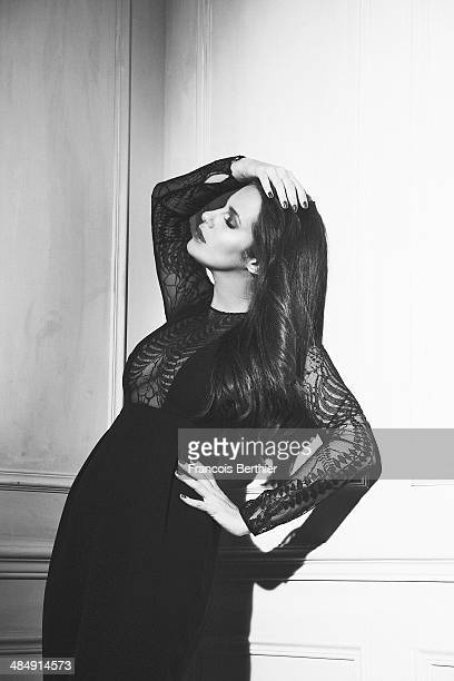 Actress Elisa Tovati is photographed for Self Assignment on March 27 2014 in Paris France