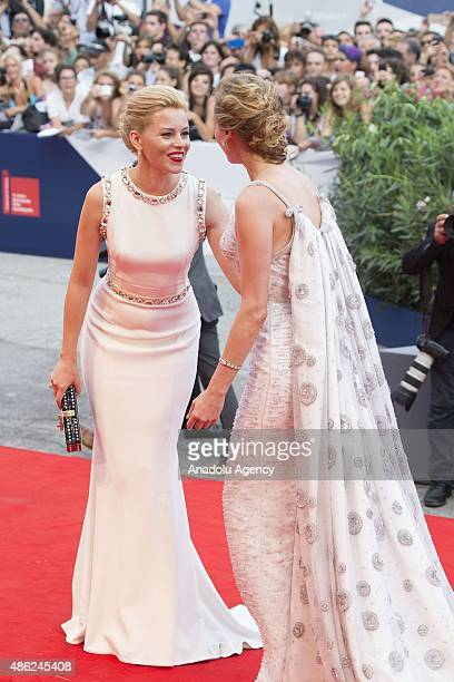 Actress Elisabeth Banks and Diane Kruger attend the opening ceremony and premiere of the movie 'Everest' during the 72nd Venice Film Festival on...