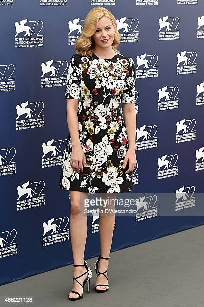 Actress Elisabeth Banks attends the opening ceremony during the 72nd Venice Film Festival on September 2 2015 in Venice Italy