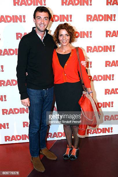 Actress Elisabeth Bourgine and her son Jules attend the Radin Paris Premiere at Cinema Gaumont Opera on September 22 2016 in Paris France