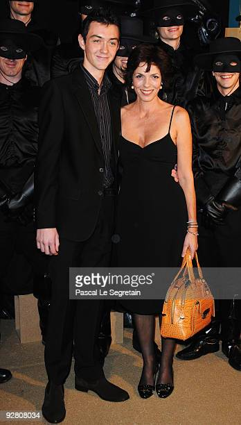 Actress Elisabeth Bourgine and son Jules attend the Zoro Gala Premiere at Folies Bergeres on November 5 2009 in Paris France