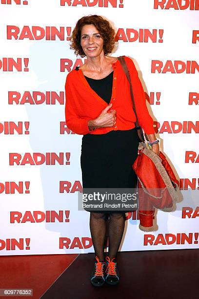 "Actress Elisabeth Bourgine attends the ""Radin"" Paris Premiere at Cinema Gaumont Opera on September 22, 2016 in Paris, France."