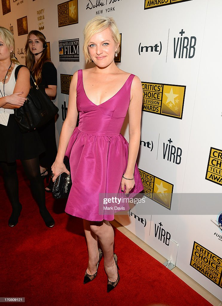 Actress Elisabeth Moss arrives at Broadcast Television Journalists Association's third annual Critics' Choice Television Awards at The Beverly Hilton Hotel on June 10, 2013 in Los Angeles, California.