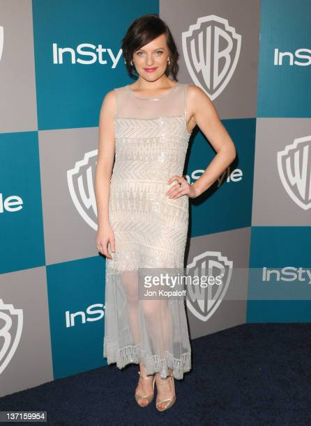 Actress Elisabeth Moss arrives at the 13th Annual Warner Bros. And InStyle Golden Globe After Party held at The Beverly Hilton hotel on January 15,...